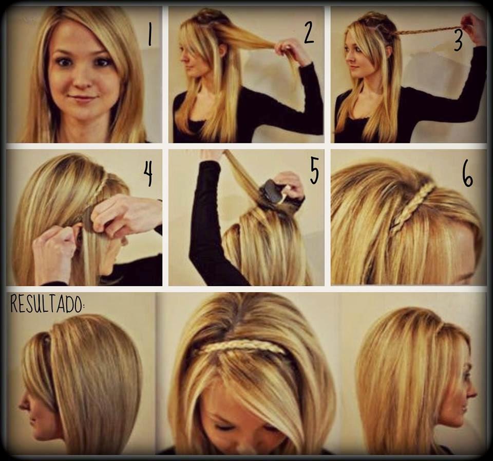 Peinados faciles para cabello hasta los hombros