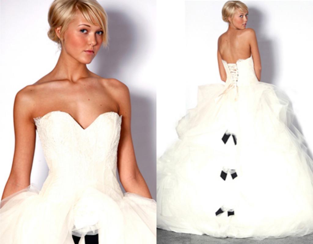 The beautiful wedding dress