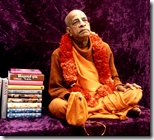 [Prabhupada with books]