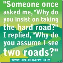 why do you assume I see 2 roads