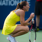 Jelena Jankovic waits for the result of a challenge