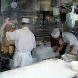 creating delicious meat buns in Yokohama, Tokyo, Japan