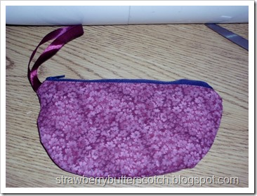 Pretty Floral Print Zippered Pouch