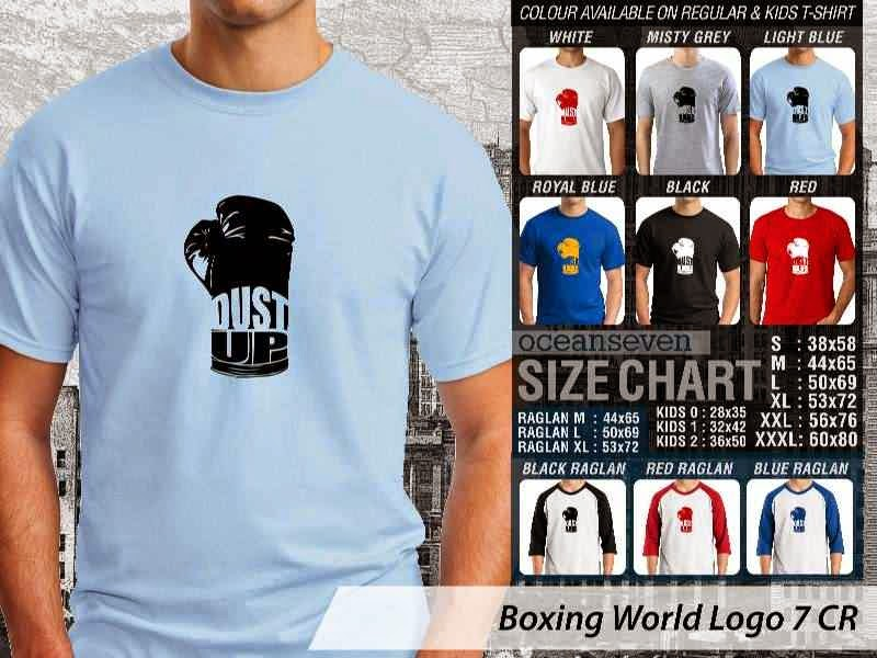 Kaos Olah Raga Sport Boxing World Logo 7 distro ocean seven