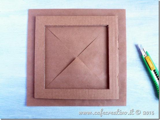 come fare cornice cartone e carta - tutorial by cafecreativo (4)