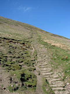 The main path up Pendle Hill (not our route today)