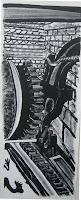 Dej BAO. 086 . Un Chemin dans la Pierre . 1978 .Lithographie . 73 x 27,5cm