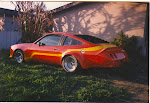 '79 Buick Skyhawk, monza town coupe front group, vette tail glass flairs. Dupont single stage mars red. Circa mid 80's, This was a fun car to own and build.
