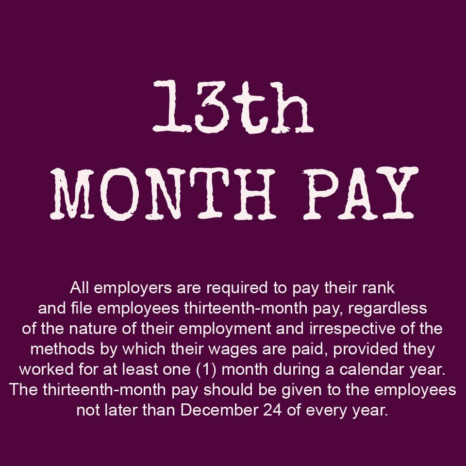 Image of DOLE Warns Private Companies to Give 13th Month Pay Before Christmas