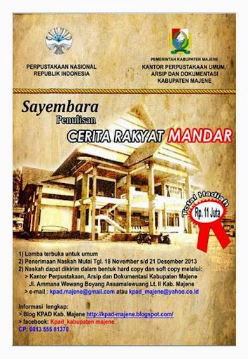lomba sayembara cerita rakyat mandar 2013