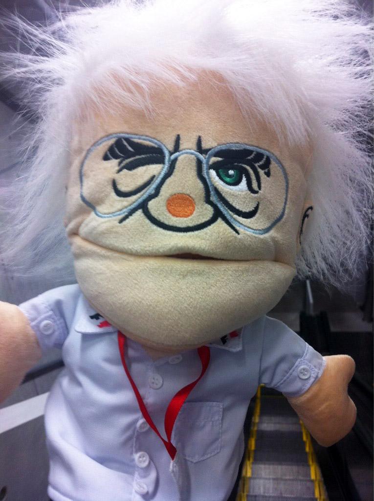 кукла Берни Экклстоуна на Гран-при Японии 2011