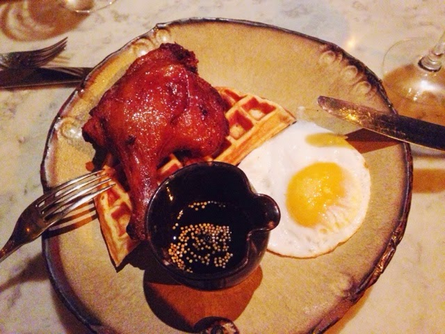 Duck and Waffle meal