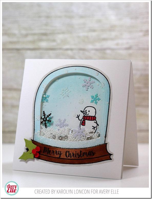 Snow-Globe-Shaker-Card