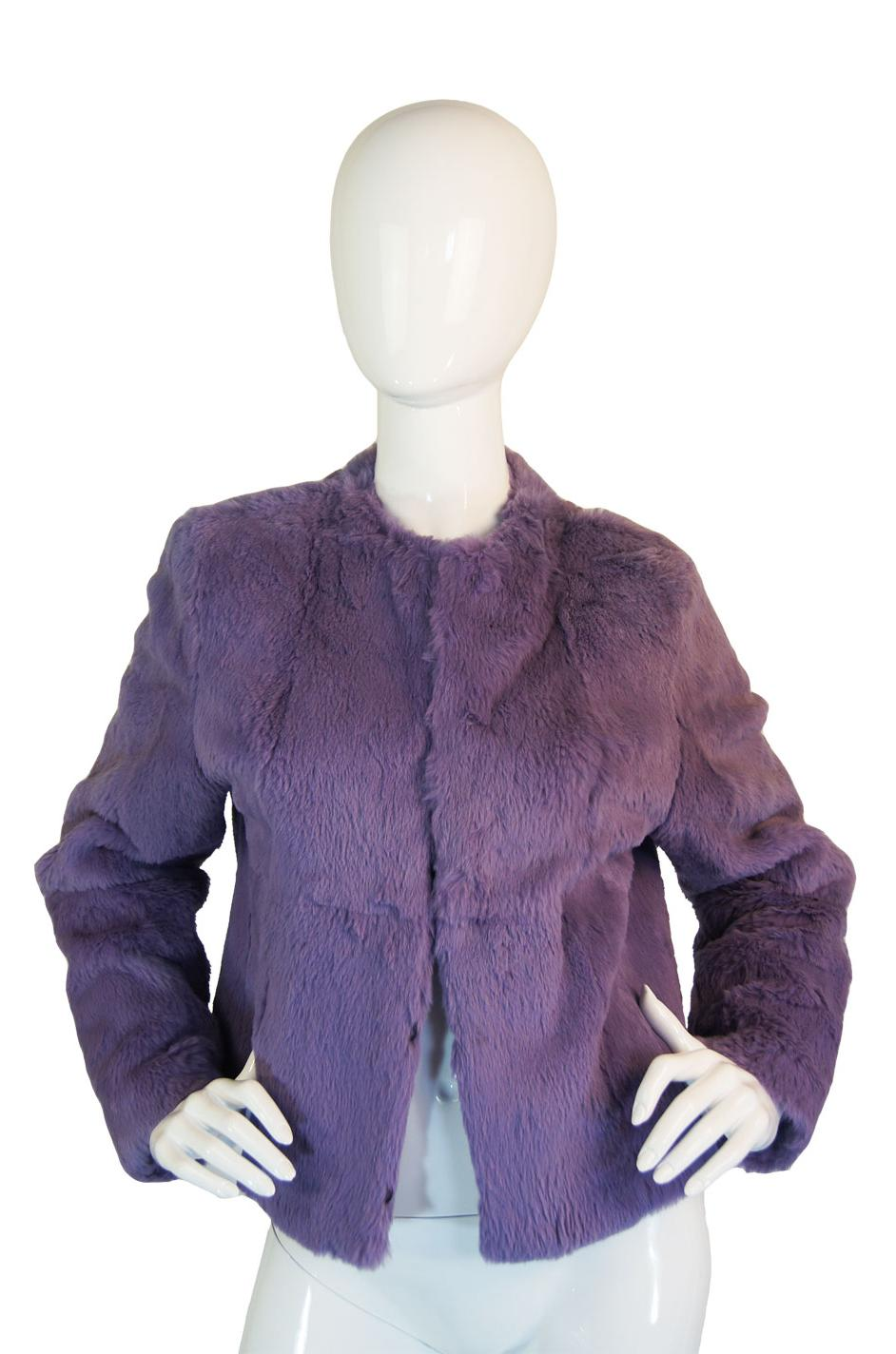 1980s Purple Dyed Rabbit Fur