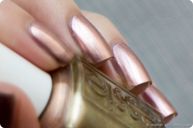 LFB Kupfer Copper Rose Gold Nails Penny Talk Essie Swatch-5