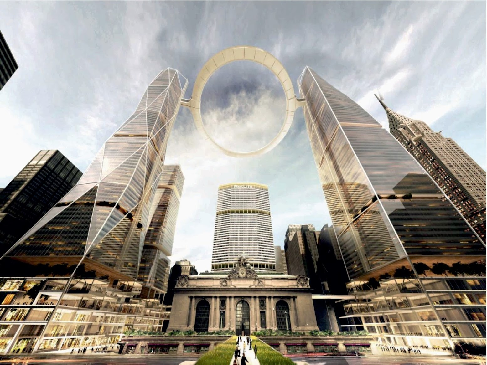 4 Washington Square N, New York, 10003, Stati Uniti d'America: [HALO ABOVE GRAND CENTRAL STATION BY SOM]