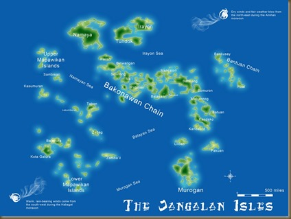 Map of the Janggalan Isles