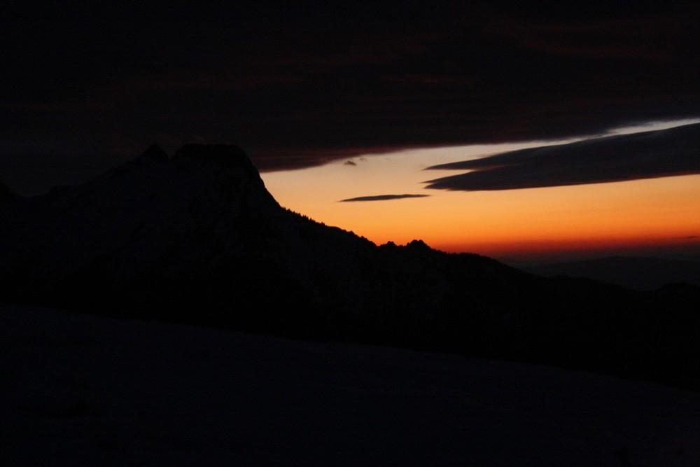 Zachód słońca na Karczmisku