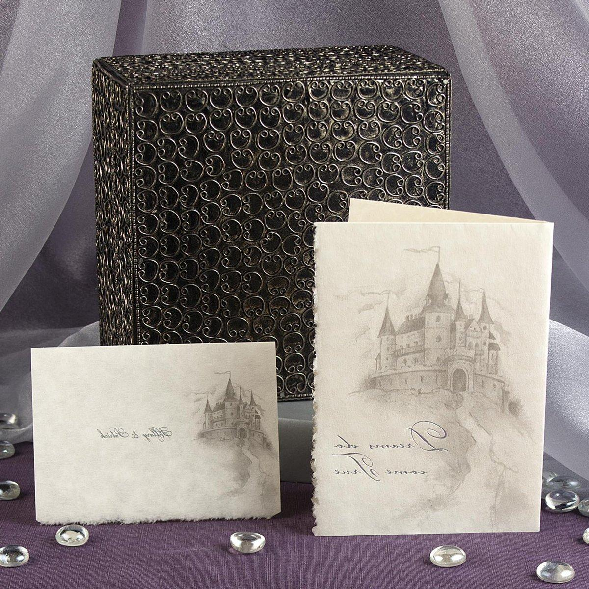 Dreams Do Come True Wedding Invitations - A magical castle appears as a