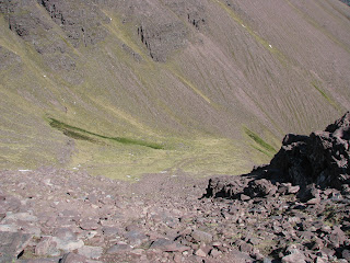 A very steep and rocky descent to Glas Tholl