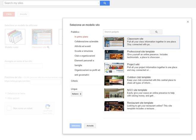 modelli-google-sites