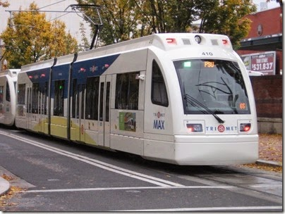 IMG_0100 TriMet MAX Type 4 Siemens S70 LRV #410 at Union Station in Portland, Oregon on October 23, 2009