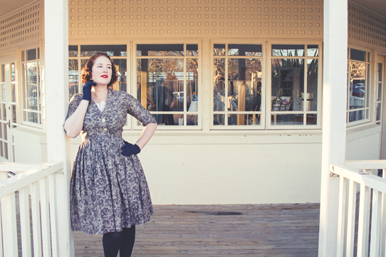 1950's vintage style for winter | Lavender & Twill
