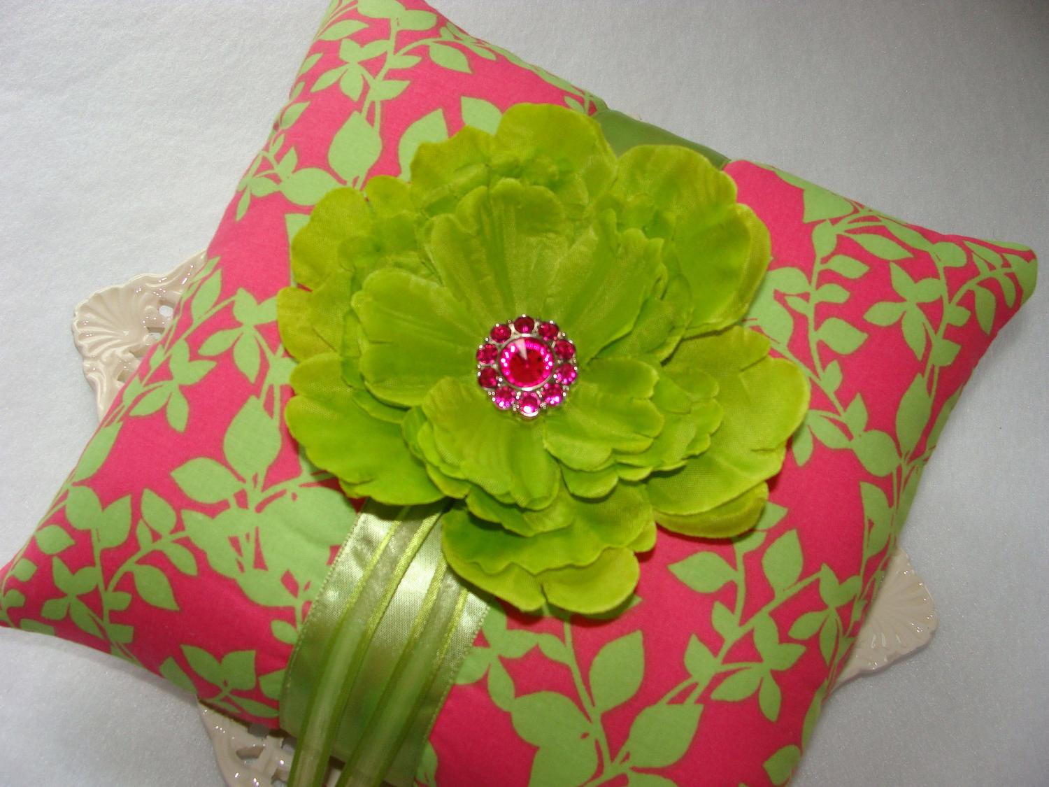 on Hot Pink & Lime Green