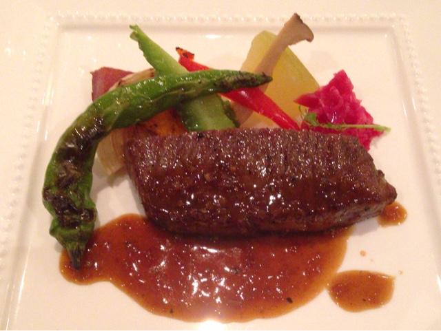 鎌倉パークホテル・ペルゴーラ 特選牛肉の炭火焼き
