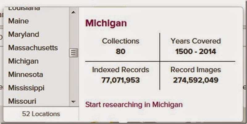 Michigan records on familysearch