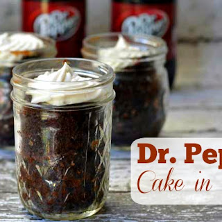 Dr. Pepper Cake in A Jar