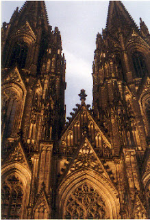 Cologne Cathedral (Kölner Dom) in Cologne, Germany.  This is the largest cathedral in Europe.