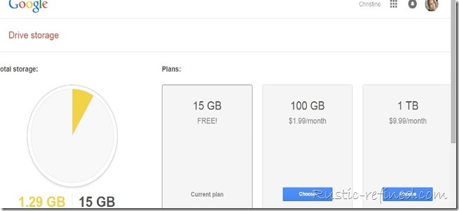 google storage and how much a blogger gets if upgraded to google plus