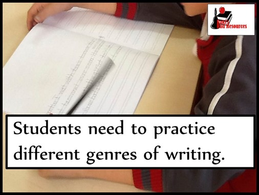 students need to practice different genres of writing - blog post with instructional ideas from Raki's Rad Resources.