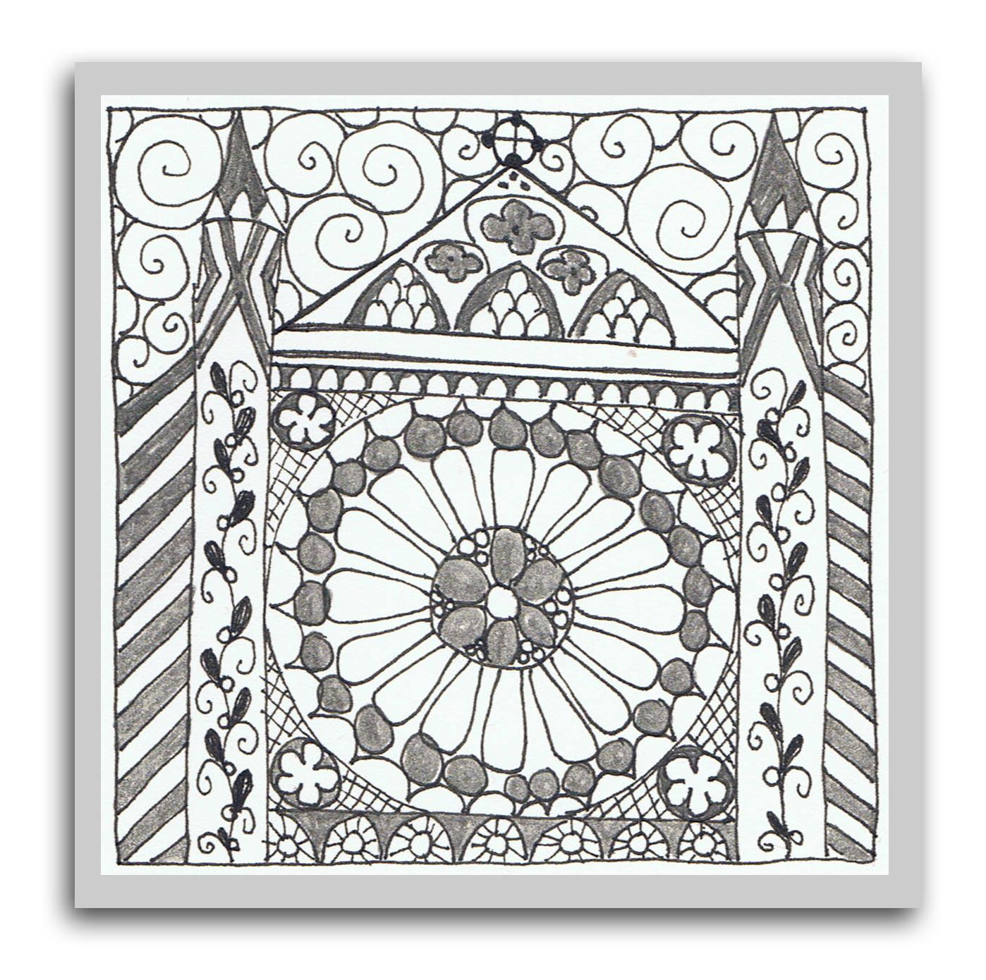 Zentangle Challenge  20 Royal