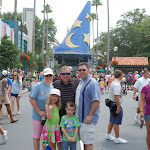 The Freys and Grampa Anthony in Hollywood Studios in Disney 06062011a