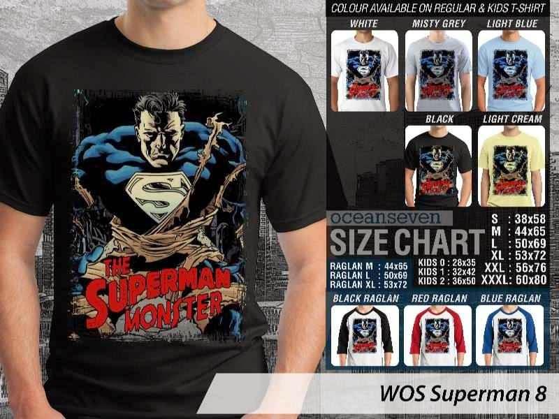 Kaos Superman Hitam 8 Movie Series distro ocean seven
