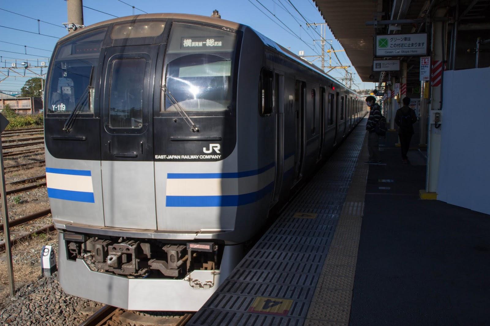 横須賀線逗子行き