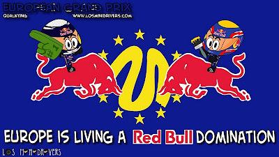 Себастьян Феттель и Марк Уэббер берут первый ряд стартового поля для Red Bull на Гран-при Европы 2011