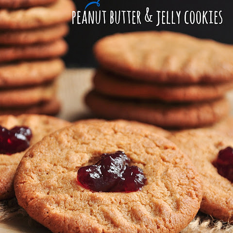 Easy Peanut Butter and Jelly Cookies