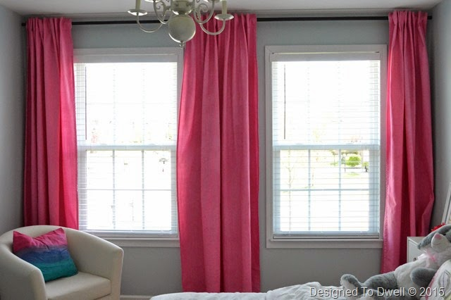 DIY Pink Dyed Curtains