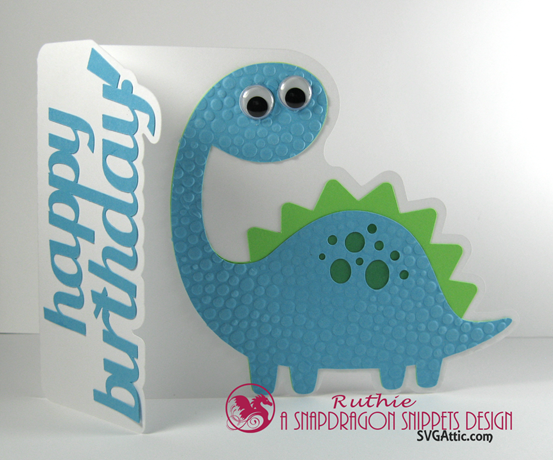 Bronto dinosaur a7 card - SnapDragon Snippets - Ruthie Lopez - Tarjeta - Card