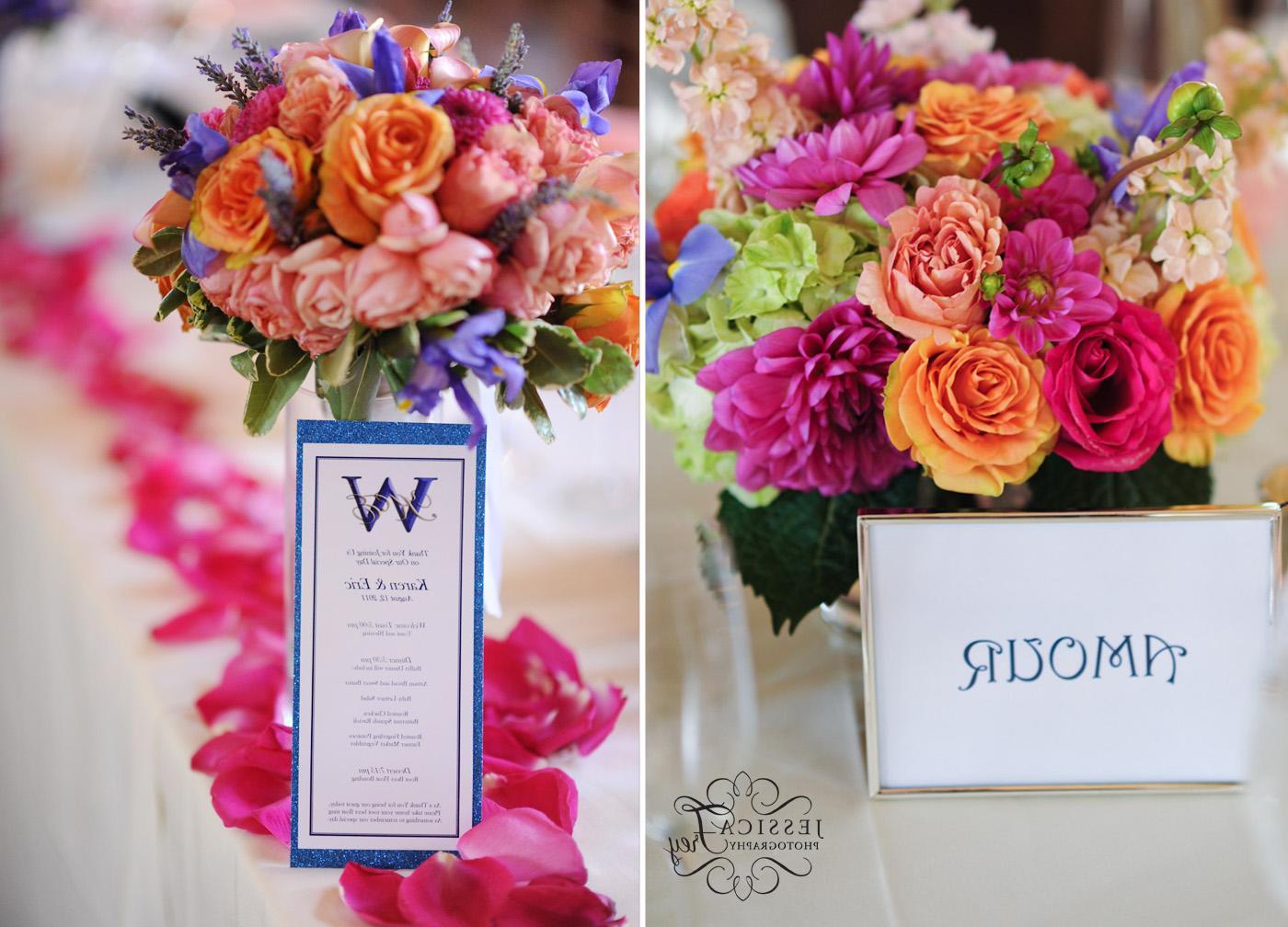 Purple Pink And Orange Bridal