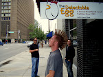 We have a day off in Denver today...We had breakfast at the Delectable Egg...the best part about it was the sign