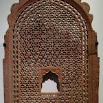 Ecran ajouré (jali). Inde, Rajasthan. 18e s. Grès rouge. MA 12680.