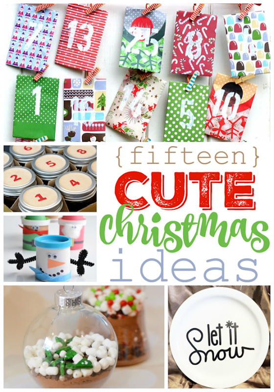15 Cute Christmas Ideas at GingerSnapCrafts.com