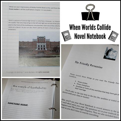 When Worlds Collide Novel Notebook