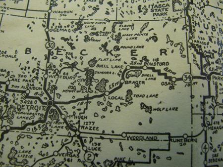 1924-1925 Highway Map