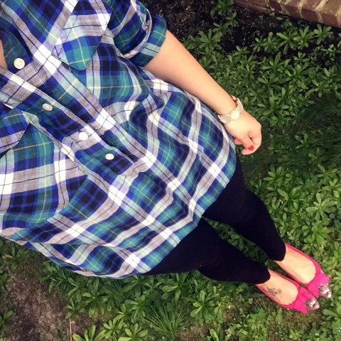 glitter bow flats, how to wear plaid, leggings as pants