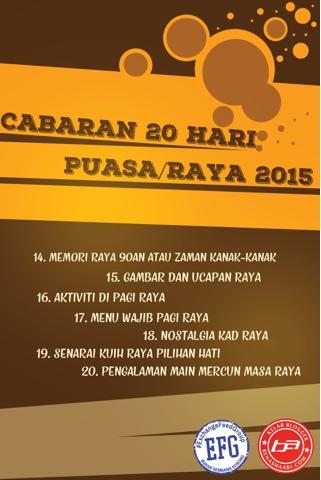 #Cabaran20Hari, #cabaran20hari, Puasa/Raya 2015